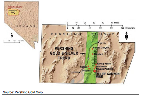 Relief Canyon Map