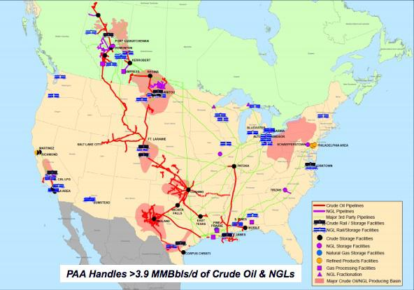 Why Is Plains All American Pipeline Down So Much Plains All - Oil pipeline map north america