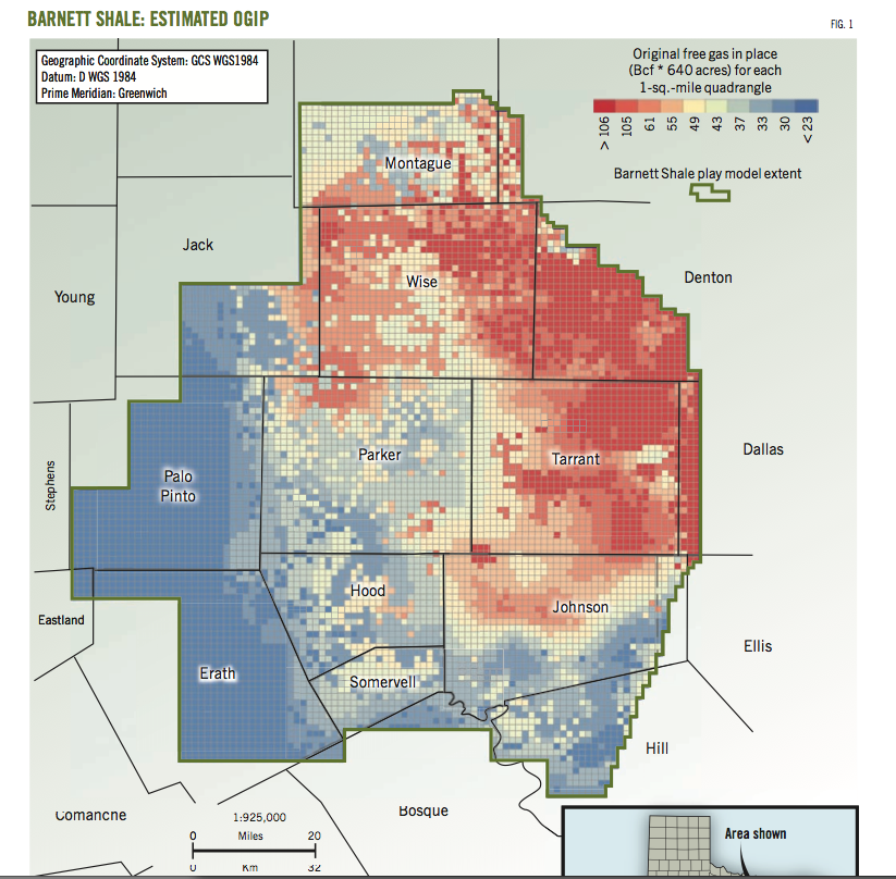 Shale gas projections double to 2030 sizing up the barnett play barnett study determines full field reserves production forecasts oil and gas journal sept 2 2013 beg ut austin download publicscrutiny Gallery