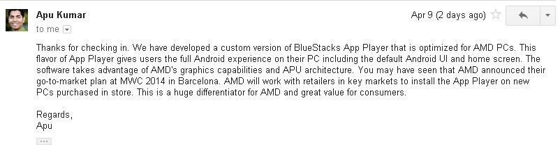 AMD: Custom BlueStacks Can Boost APU And Radeon Sales