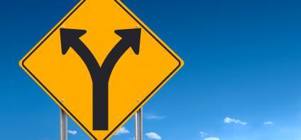 Choice Ahead Road Sign