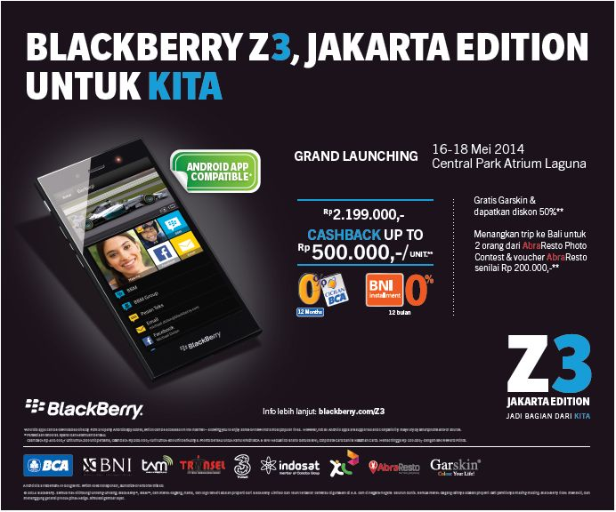 The BlackBerry Z3 Jakarta Is A Hit In Indonesia - BlackBerry Limited