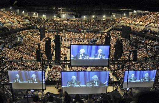 Berkshire Annual Meeting - Buffett on the Big Screen