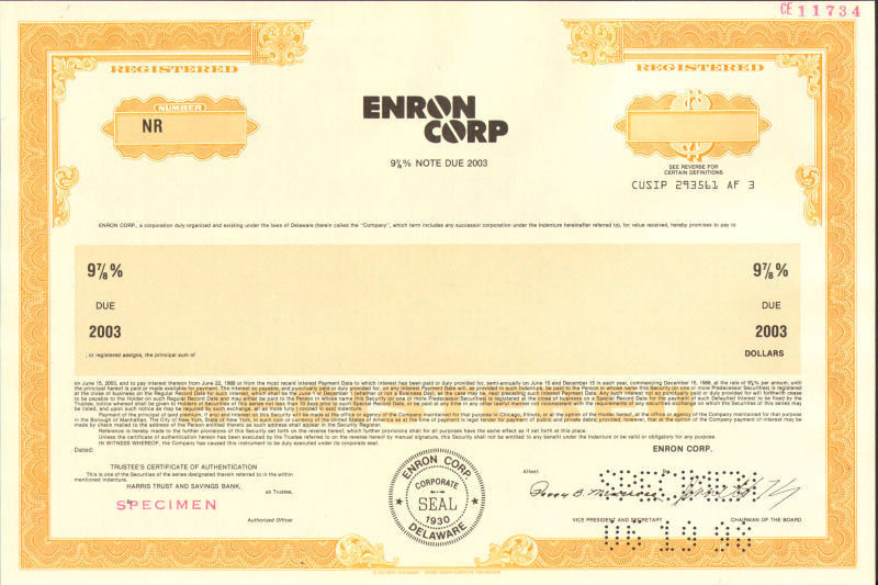 here is another candidate for the short the stock but get one share certificate for its novelty
