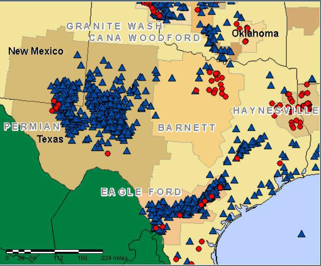 Charts And Maps Of Americas Amazing Shale Oil Revolution - Oil from texas in us map