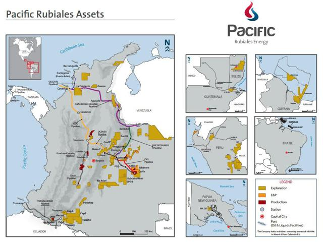 Pacific Rubiales Energy Corp Is Engaged In The Exploration Development And Production Of Certain Oil And Natural Gas Interests Primarily Located In The