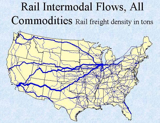 BNSF And Union Pacific Have Intermodal Advantages Union Pacific - Intermodal map us