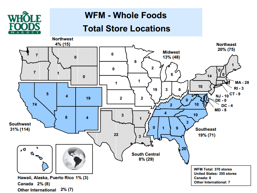 Whole Foods Regional Map Whole Foods: Everything You Need To Know   Amazon.com, Inc