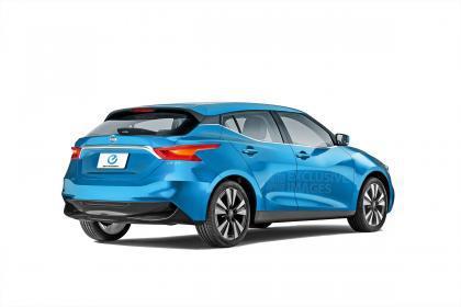 New Nissan Leaf rear rendering
