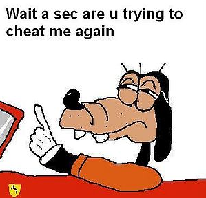 Goofy does not Approve