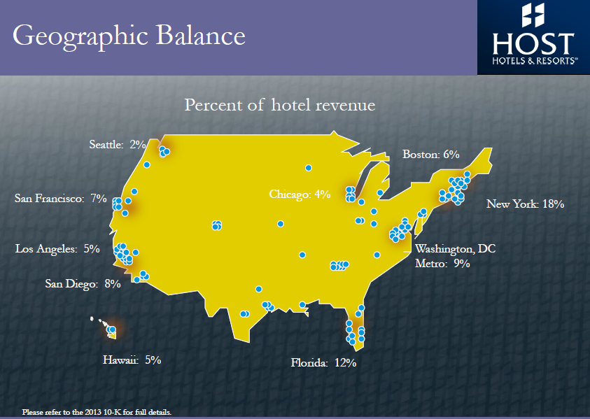Hotel Exposure To The Oil Crash Seeking Alpha - Denver Circled On Us Map