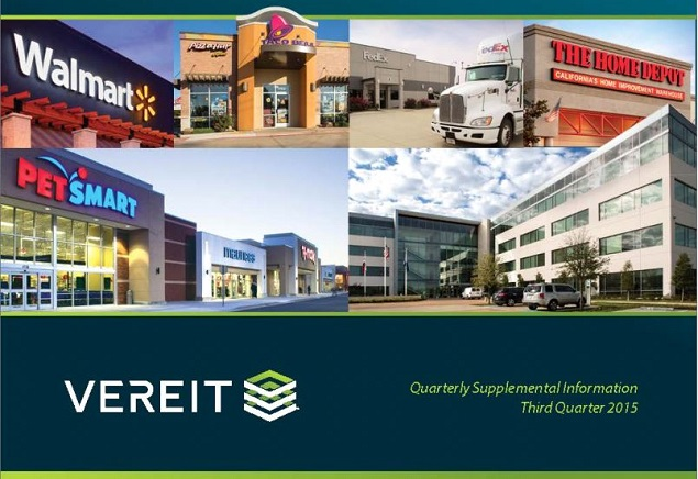 Net lease reit vereit continues to execute on investor day blueprint vereits q3 2015 results showed concrete progress on all fronts with the possible exception of the disappointing cole capital financial results malvernweather Images