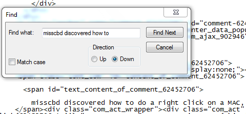 notepad view of HTML