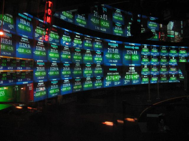 Nasdaq (Wikimedia commons) https://upload.wikimedia.org/wikipedia/commons/1/18/NASDAQ_studio.jpg