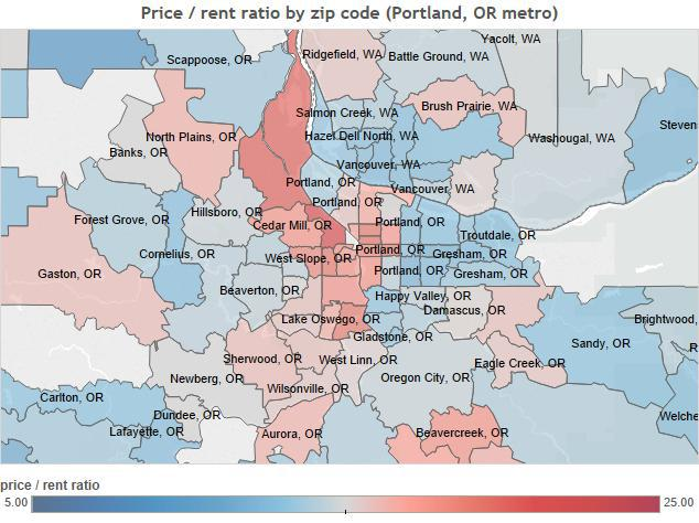 House Price-To-Rent Ratios In Major U S  Markets | Seeking Alpha