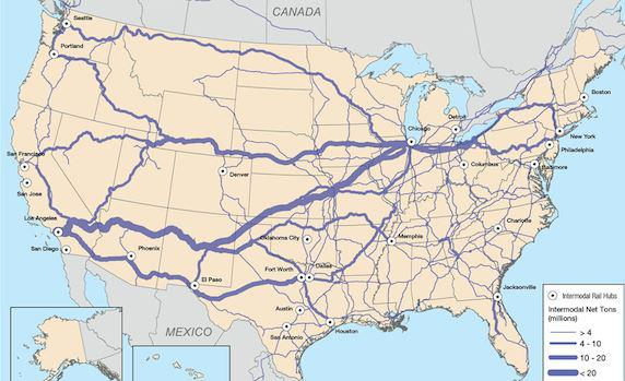 Some Risks For Union Pacific And Burlington Northern Union - Us railroad map 2015
