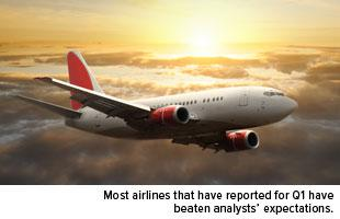 Most airlines that have reported for Q1 have beaten analysts expectations