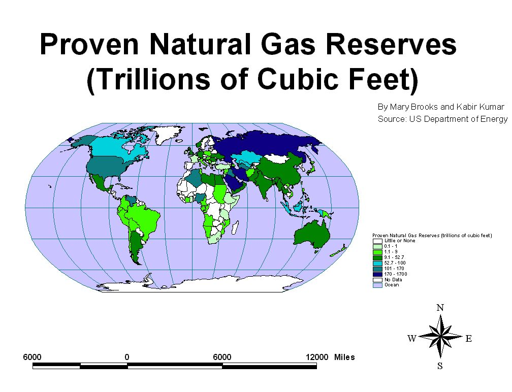 The Middle East Will Become Significantly More Influential In - Us natural gas reserves map