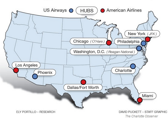 Why I Bought American Airlines Because Its Cheap American - Us air hubs map
