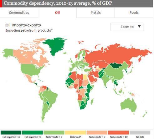 The Economist Map Crude Oil