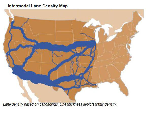 Update On Western US Rails Union Pacific Corporation NYSEUNP - Intermodal map us