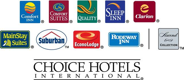Choice Operates Under The Brands Comfort Inn Suites Clarion Mainstay Sleep Econo Lodge Rodeway Quality Cambria Hotels