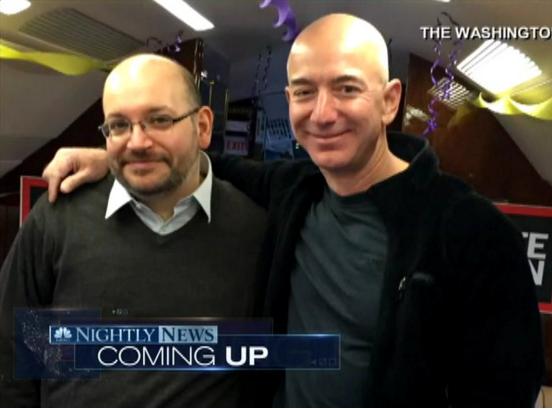 Photo of Amazon CEO Jeff Bezos with WaPo reporter Jason Rezaian, via WaPo.