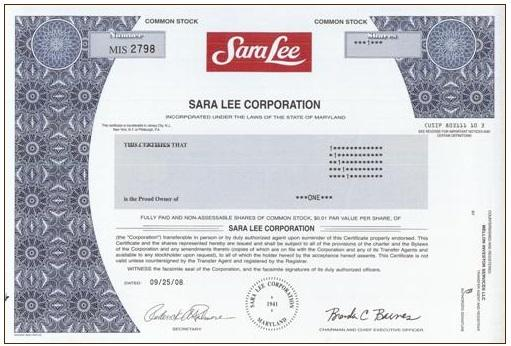 Former Sara Lee Shareholders Are Leaving $44.97 Million On The Table ...