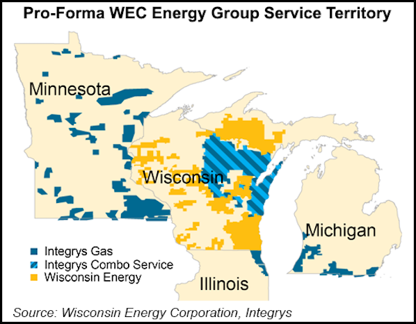 Wisconsin Natural Gas Service Map