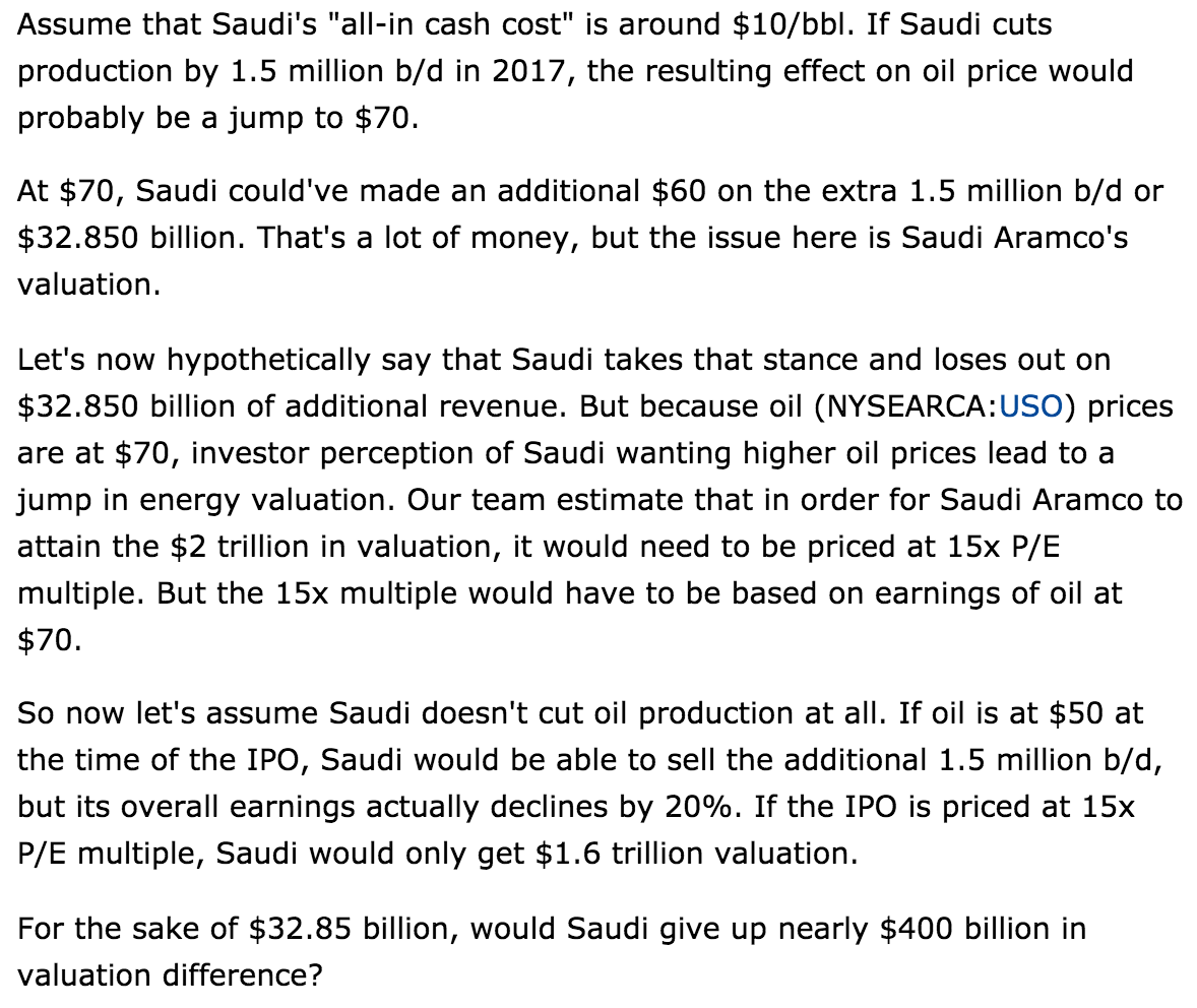 The Saudi Math For Higher Oil Prices - Oil Markets Daily