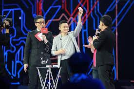 Jack Ma performing a magic trick on Singles Day