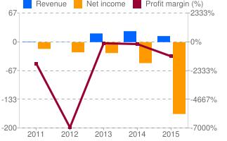 annual data profit margin google