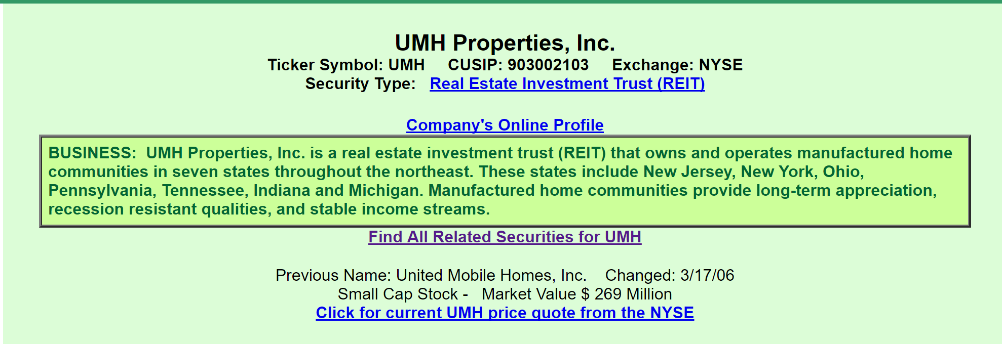 Umh properties a view from the perspective of a preferred investor a quick review informs us that umh is a reit that owns and operates manufactured home communities it ipod with a market value of 269 million buycottarizona Image collections