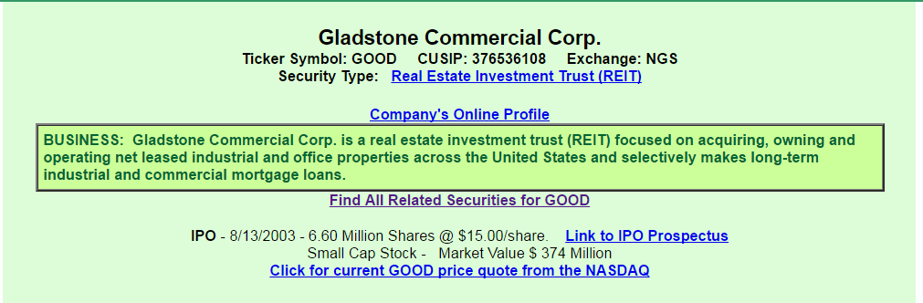 Gladstone Commercial A View From The Perspective Of A Preferred