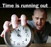 Image result for time is running out pic