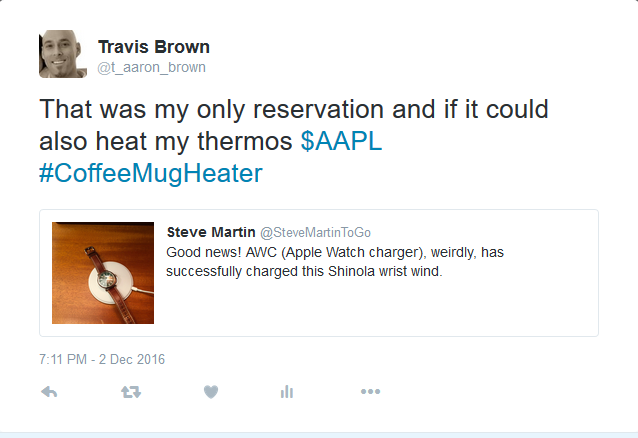 Steve Martin and Travis Brown: Twitter on Apple Watch