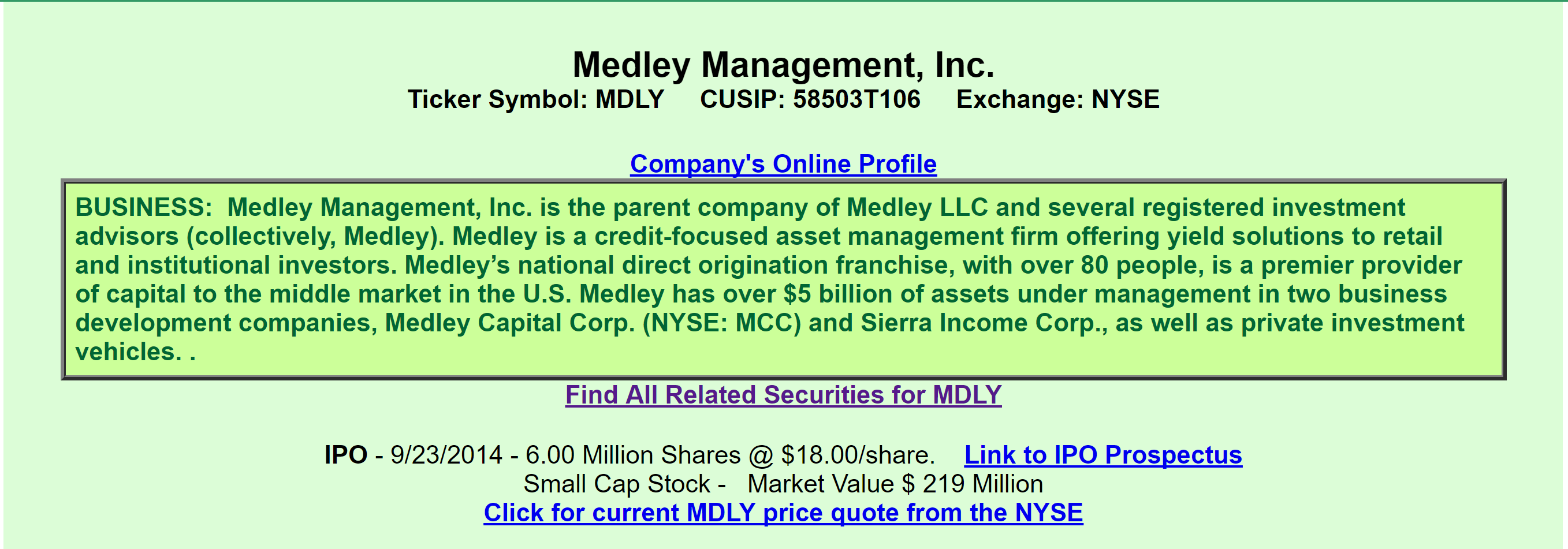 Medley management a view from the perspective of a preferred a quick review informs us that mdly is a credit focused asset management firm that also provides capital to middle market companies biocorpaavc Gallery