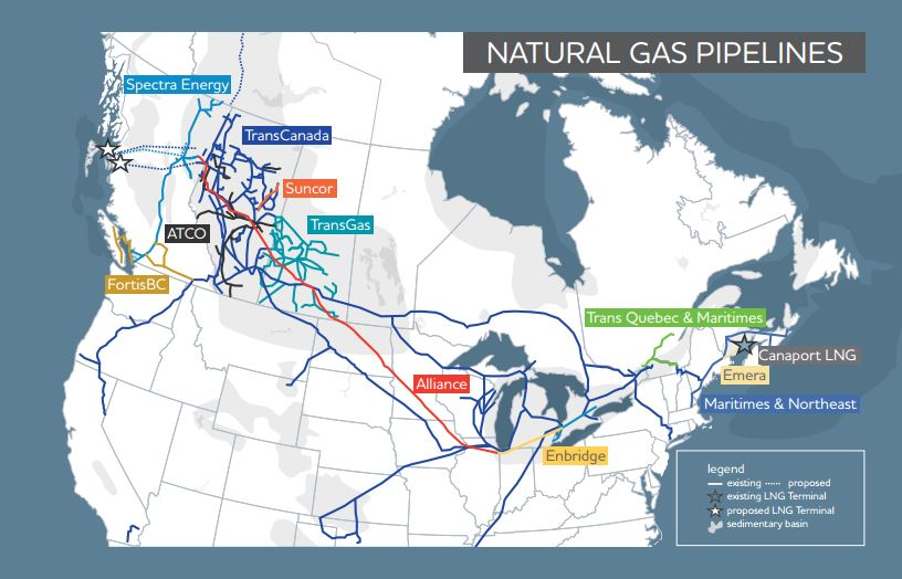 Major Proposed Pipelines Include Expansion Towards The Bc Coast Eastern Canada And The Us West Coast And Northeastern
