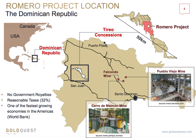 Goldquest Is A GoldCopper Opportunity In The Dominican Republic - Where is the dominican republic located