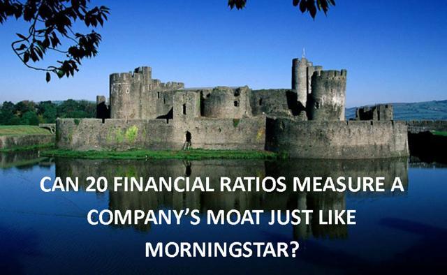 Moat, Morningstar, Accelerating Dividends, financial ratios measuring a company