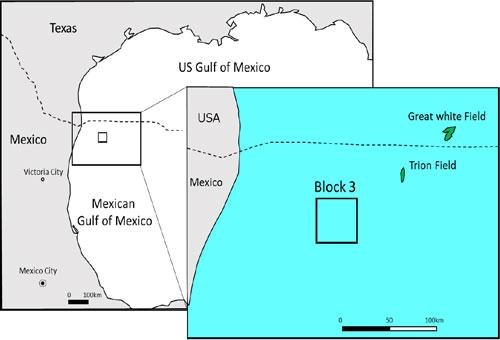 Block 3 in the Perdido Fold Belt in the Mexican sector of the northern Gulf of Mexico INPEX