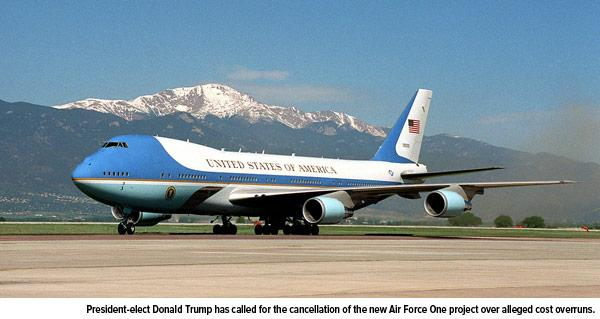 Cancellation new Air Force One project