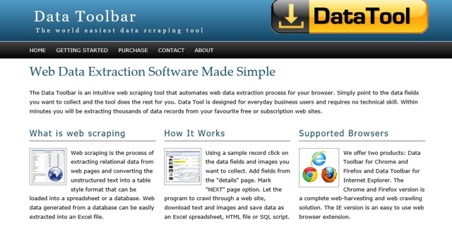 DataToolBar Web Site