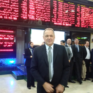Thomas Hugger, CEO Asia Frontier Capital, at the Tehran Stock Exchange