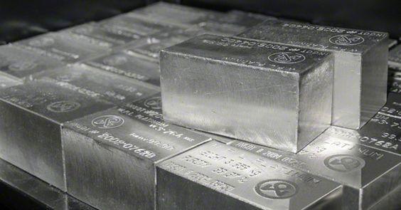 Stacked Platinum Bullion Bars: