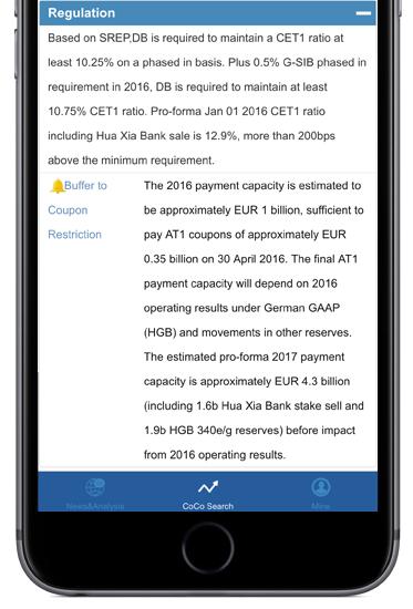 Regulation section of Deutsche Bank