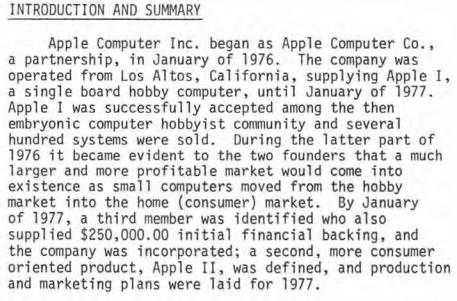 Apple computer ipo prospectus