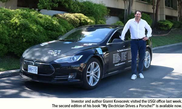 Investor and author Gianni Kovacevic visited USGI office this week. My Electrician Drives a Porsche book