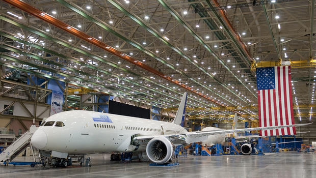 Boeing 787 in assembly