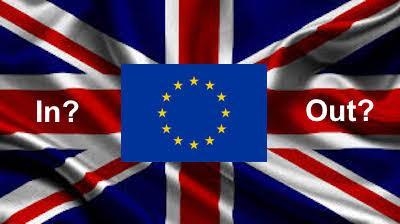brexit symbol of uk and eu flags